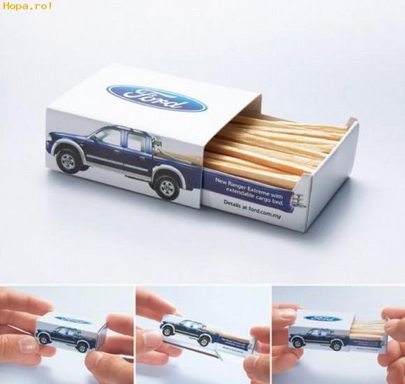 Reclame - Reclama Ford pe cutia de chibrituri
