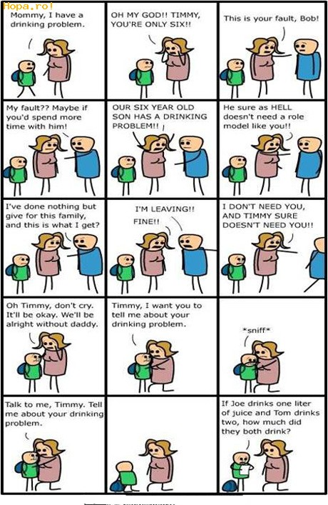 Caricaturi - Drinking problem