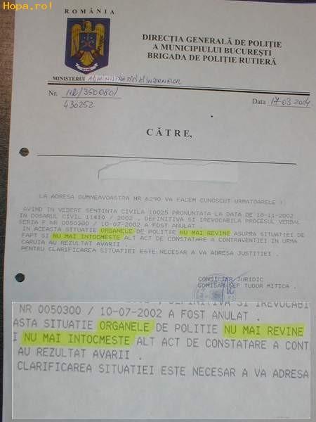 Din Romania - Politia Romana stie sa scrie si sa citeste bine