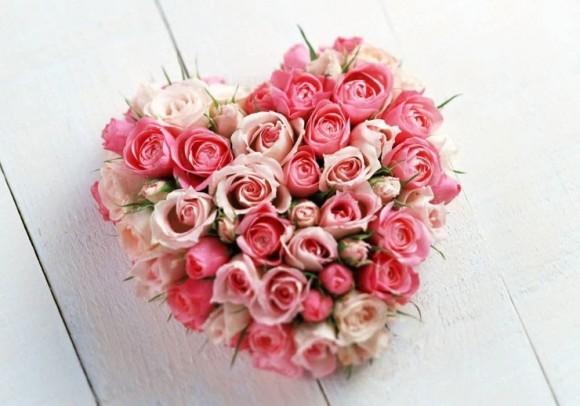 Dragoste - Inima de trandafiri