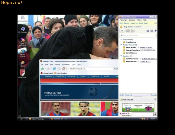 Din Romania -  Gigi Becali's Desktop