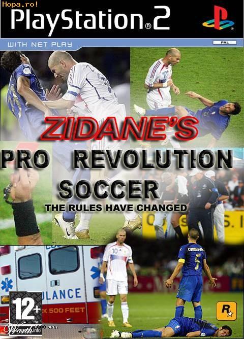 Parodii Jocuri - Zidane's pro revolution soccer