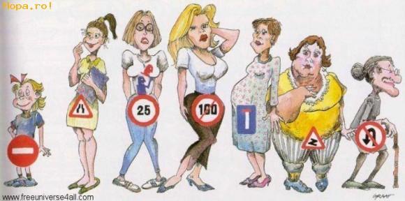 Caricaturi - Femeia