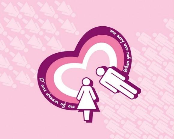 Dragoste - Inima roz