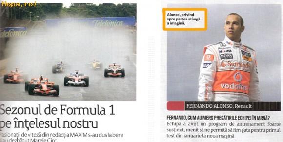 Celebritati - Fernando Alonso sau ... Lewis Hamilton