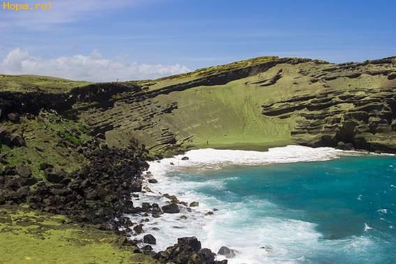 Ciudate - Plaja cu nisip verde - Plaja Papakolea