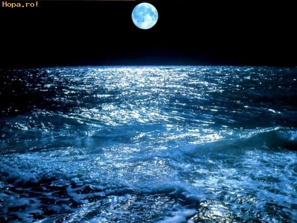 Peisaje - Noaptea la mare