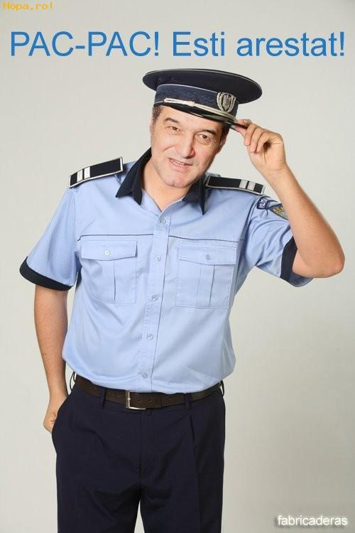 Celebritati - Gigi Becali politist