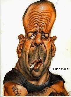Caricaturi de personaje - Bruce Willis