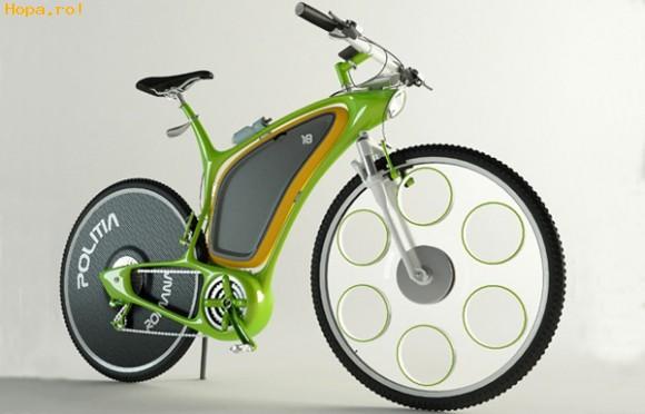 Gadgets - Un roman a desenat bicicleta de politie a viitorului