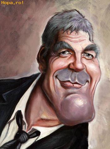 Caricaturi de personaje - George Clooney