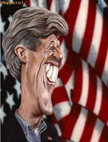 Caricaturi de personaje - John Kerry