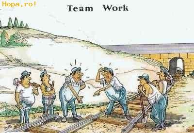 Caricaturi - Lucru in echipa
