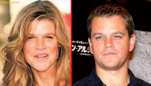 Celebritati - Asa ar arata Matt Damon daca ar fi femeie