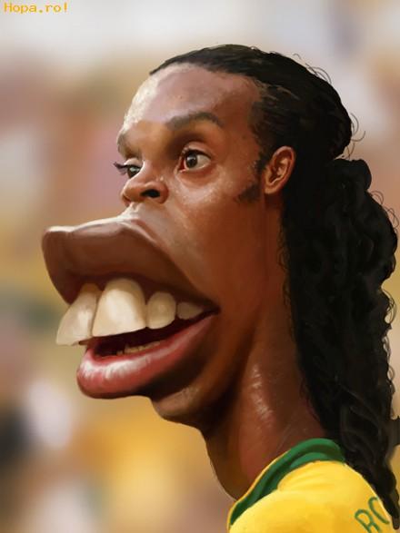 Caricaturi de personaje - Ronaldinho