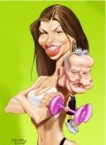 Caricaturi de personaje - Monica si Irinel