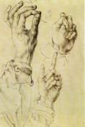 Artistice - A. Durer - Trei maini