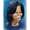 Caricaturi de personaje - Michelle Obama