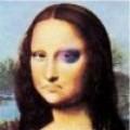 Caricaturi - Monalisa cu ochiul vanat