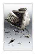 Calculatoare - Cineva s-a suparat pe saracul calculator