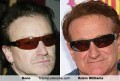 Celebritati - Asemanare: Bono si Robie Williams