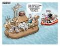 Caricaturi - Noe si gripa aviara