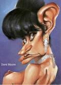 Caricaturi de personaje - Demmi Moore