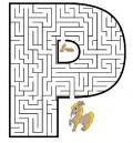 Diverse - Poate ajunge poneiul la mancare?Se incepe din centrul literei P,acolo unde trebuie sa ajunga poneiul.