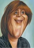 Caricaturi de personaje - Angela Merkel
