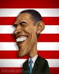 Caricaturi de personaje - Barak Obama