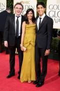 Celebritati - Golden Globes 2009 - Danny Boyle, Freida Pinto si Dev Patel