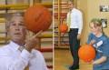 Celebritati - Bush nu stie sa joace baschet