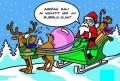 Caricaturi - Mos Craciun si renul sau
