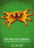 Reclame - Daca vrei sa scapi de acest monstru spala-te pe maini