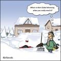Caricaturi - Unde este Incalzirea Globala atunci cand ai intr-adevar nevoie de ea