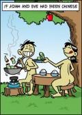 Caricaturi - Daca Adam si Eva ar fi fost chinezi