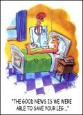 Caricaturi - Vestea buna este ca am putut salva piciorul dumneavoastra