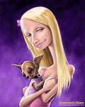 Caricaturi de personaje - Paris Hilton