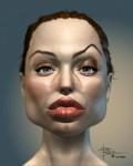 Caricaturi de personaje - Angelina Jolie