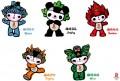 Jocurilor Olimpice de la Beijing - Colaj de mascote Beijing 2008