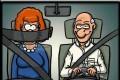 Caricaturi - Centura de siguranta  pentru sotiile cicalitoare